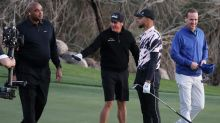 Steph Curry, Charles Barkley get into golf cart fender bender in 'The Match'
