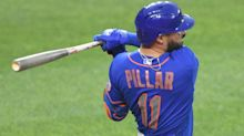 Mets' Kevin Pillar confirms that his bat is not spattered with blood, 'just pine tar stick'