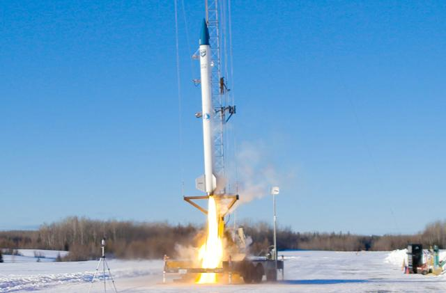 First commercial biofuel booster rocket launches in Maine