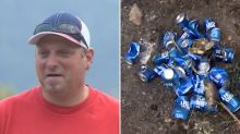 Man saves his home from wildfires with cans of beer