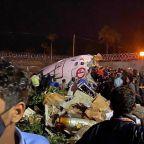 Air India Express flight from Dubai crashes at Calicut airport, killing 16