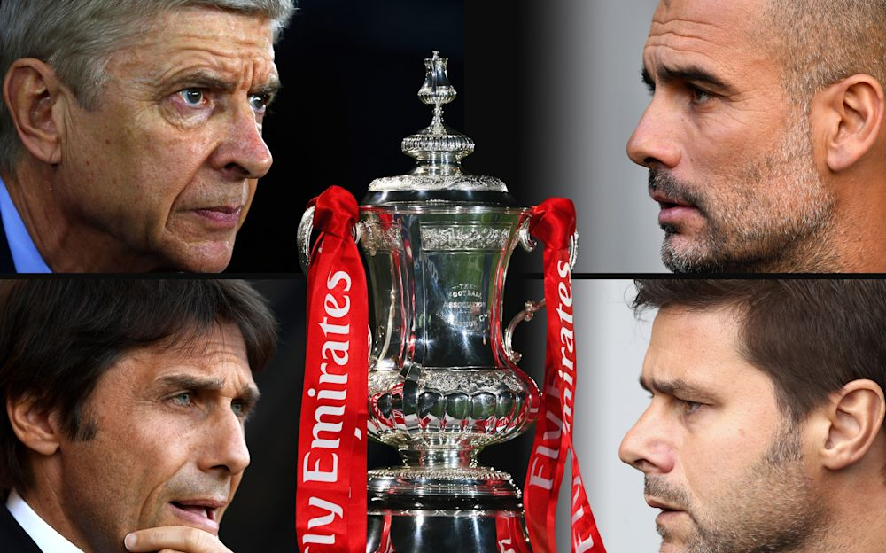 Arsenal take on Man City and Chelsea face Tottenham in the FA Cup - 2017 Getty Images