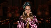 53-year-old Sarah Jessica Parker Slays in Floral Cape and Headpiece at Dolce & Gabbana event