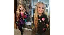 """Garotinha de 8 anos deixa o cabelo crescer para fazer """"peruca de princesa"""" para crianças doentes"""