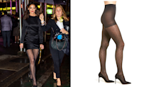 Katie Holmes put an unexpected twist on her $3,625 dress with $42 patterned tights