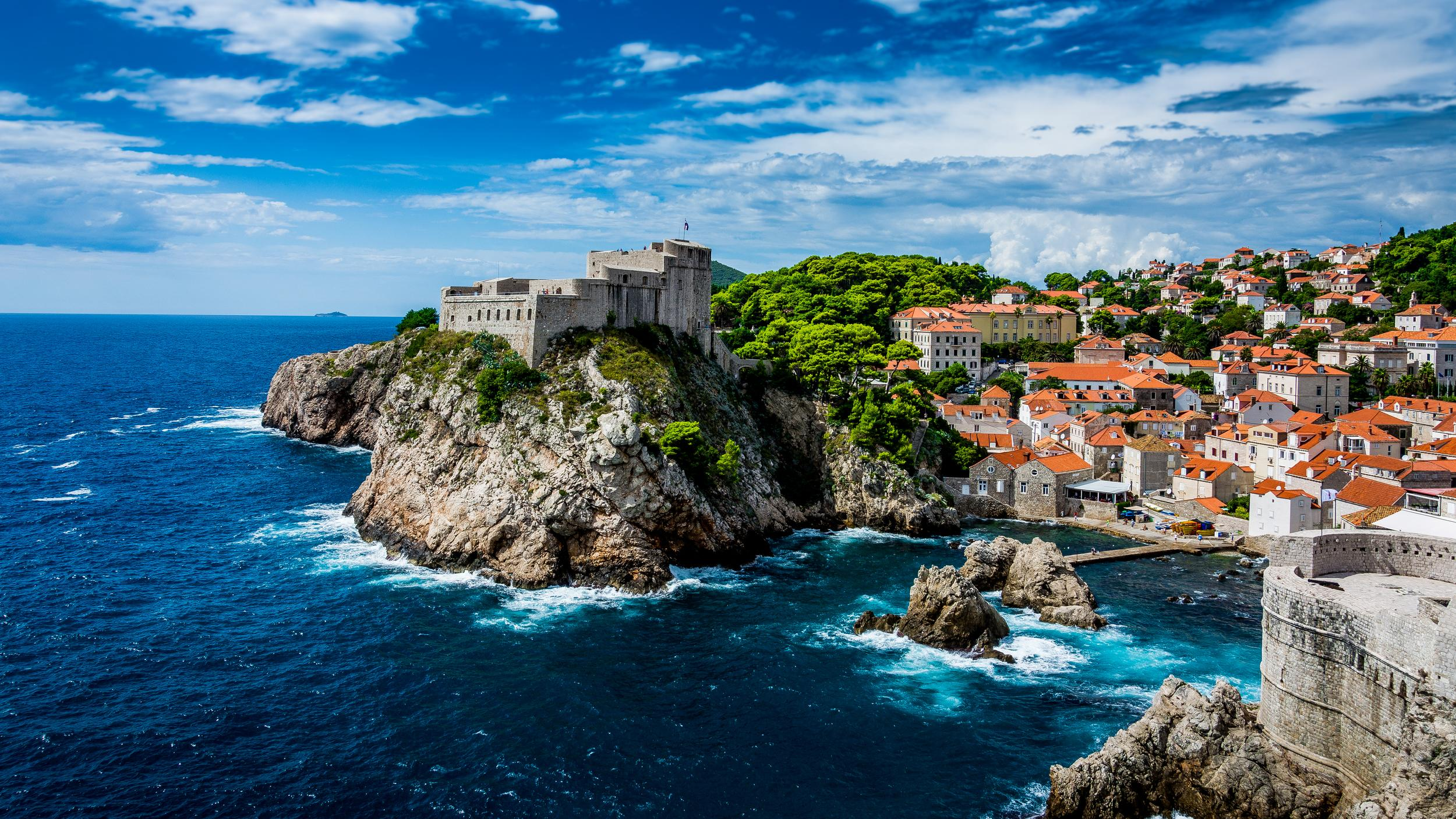 """<p><strong>GOT location</strong>: King's Landing</p>  <p><strong>Real life location</strong>: Dubrovnik, Croatia</p>  <p>Walk in the footsteps of your favorite characters (and your favorite characters to hate) in the stunning town of Dubrovnik.</p>  <p><strong><a href=""""https://fave.co/2PgymxZ"""">Book your trip.</a></strong></p>"""