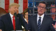 Stephen Colbert crushes Trump's 'insane' State of the Union speech