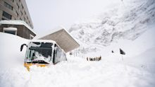 Thousands stranded in Swiss ski resorts as extreme weather continues to wreak havoc in the Alps