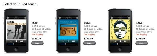 iPod touch prices slashed dramatically before today's event (nano and classic too)