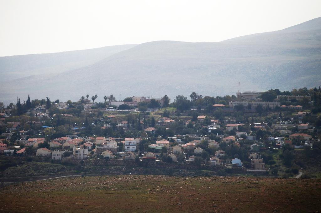 The mountainous area of Aqraba, in the Israeli occupied West Bank, shows the Jewish settlement Maale Efrayim