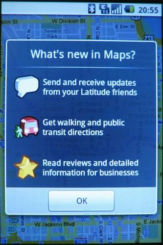 Google updates Maps through the Android Market