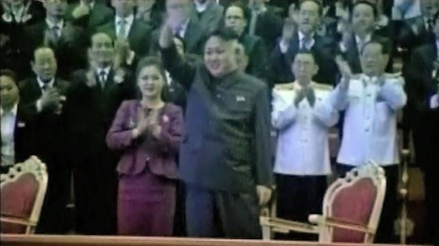 Kim Jong-Un and wife ring in 2013
