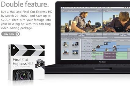 Save $200 instantly on a Mac and Final Cut Express HD