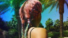 Kylie Jenner Rocks Rainbow Braids For Coachella Day Two