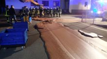 Firefighters to the rescue after German chocolate factory spill