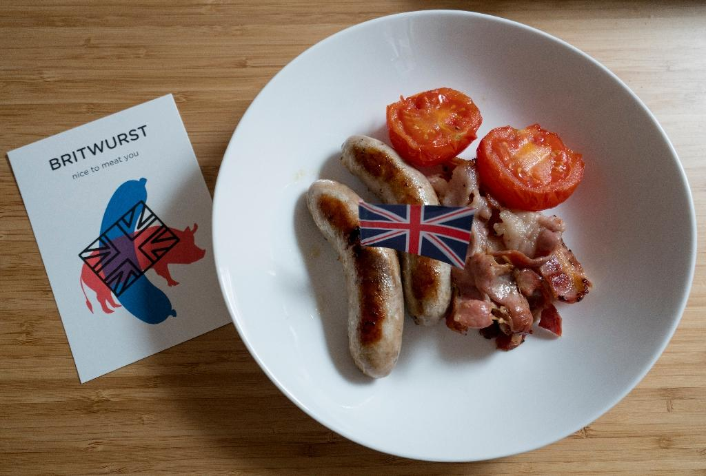 Richard Holmes says his main selling point is not that his sausages are British but they are a quality, all-natural product, unlike the cheaper end of Vienna's local market (AFP Photo/Joe Klamar)
