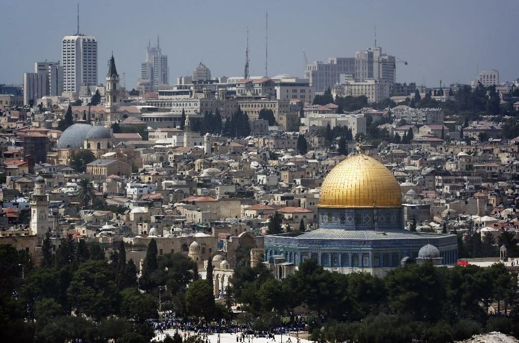 The Jerusalem skyline (AFP Photo/MARCO LONGARI)