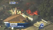15 homes burned in 7-alarm grass fire in Fairfield