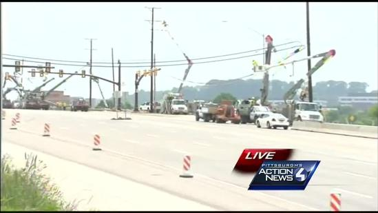 Route 228 closure continues