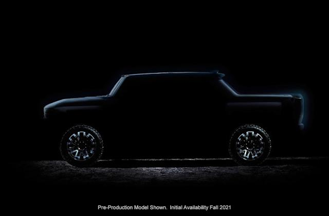 GMC teases its 1,000HP electric Hummer truck and SUV