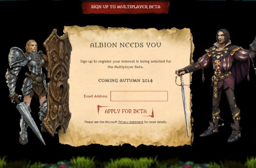 Lionhead accepting applications for Fable Legends beta