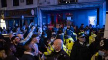 Police increase patrols to deal with crowds on first weekend since pubs reopened