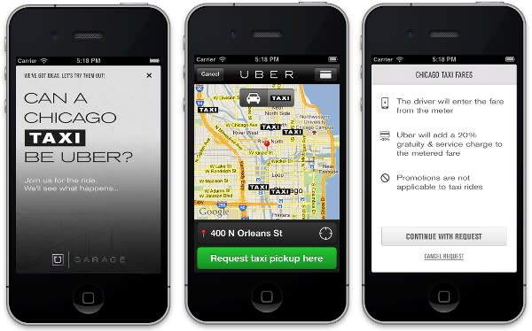 Uber tackles Taxis in Chicago with Uber Garage experiment