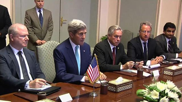 Secretary of State Kerry in Egypt to help forge cease-fire between Israelis and Hamas