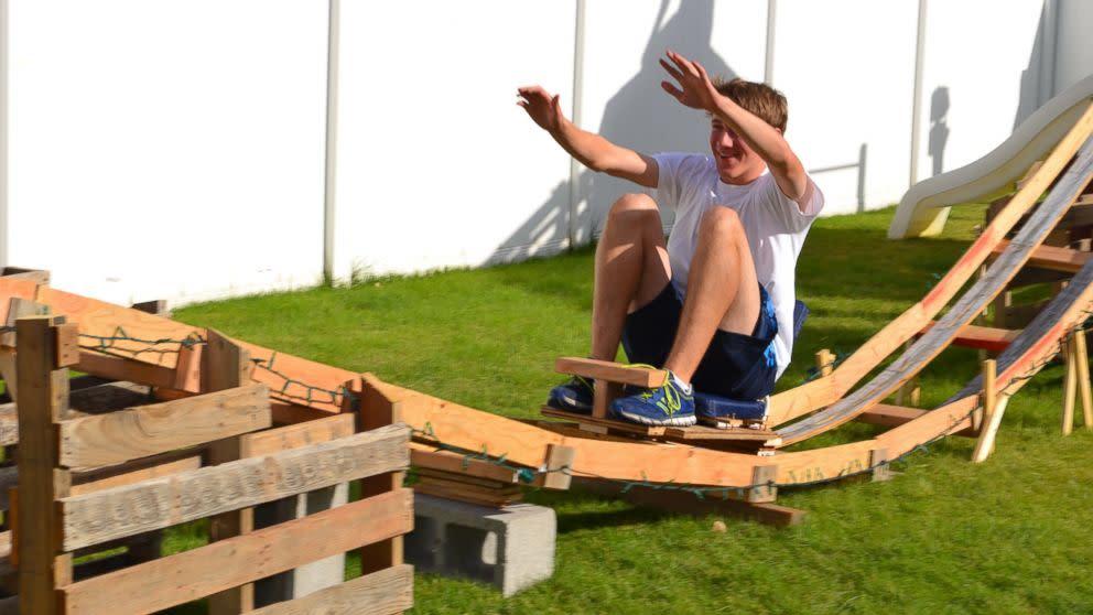 Teen Boys Build 50-Foot-Long Backyard Roller Coaster For $50