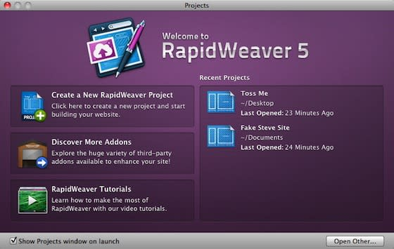 RapidWeaver 5.0: TUAW exclusive first look and promo code giveaway