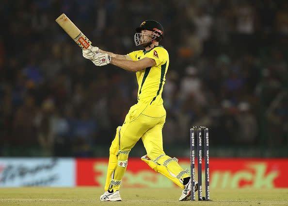 Ashton Turner in action during India v Australia - ODI Series: Game 4