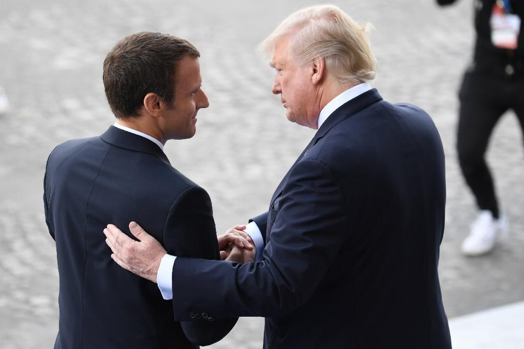 Macron hosted his US counterpart Donald Trump in Paris in July 2017 (AFP Photo/ALAIN JOCARD)