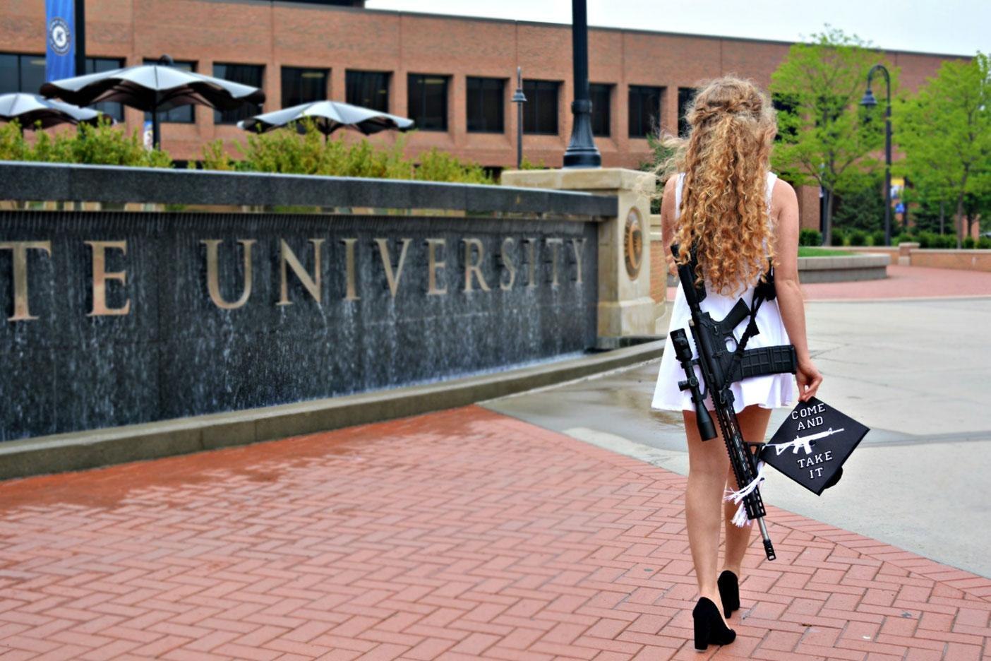 Woman gets death threats after shocking graduation photo