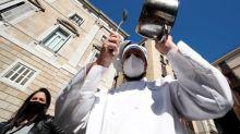 'Endangered species': Barcelona bar staff protest against coronavirus shutdown