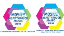 Sprint Wins Three Mobile Breakthrough Awards for Innovative 5G Massive MIMO and SpiderCloud Small-Cell Technologies