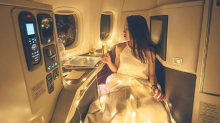 Instagrammer mocked for taking fairy lights onto flight to create perfect picture