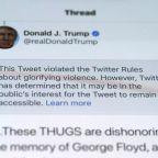 Trump defends Tweet threatening 'shooting', says 'looting leads to shooting'