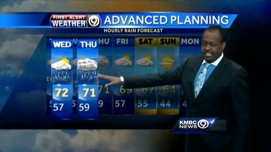 Warmer temperatures, rain settle in for the week
