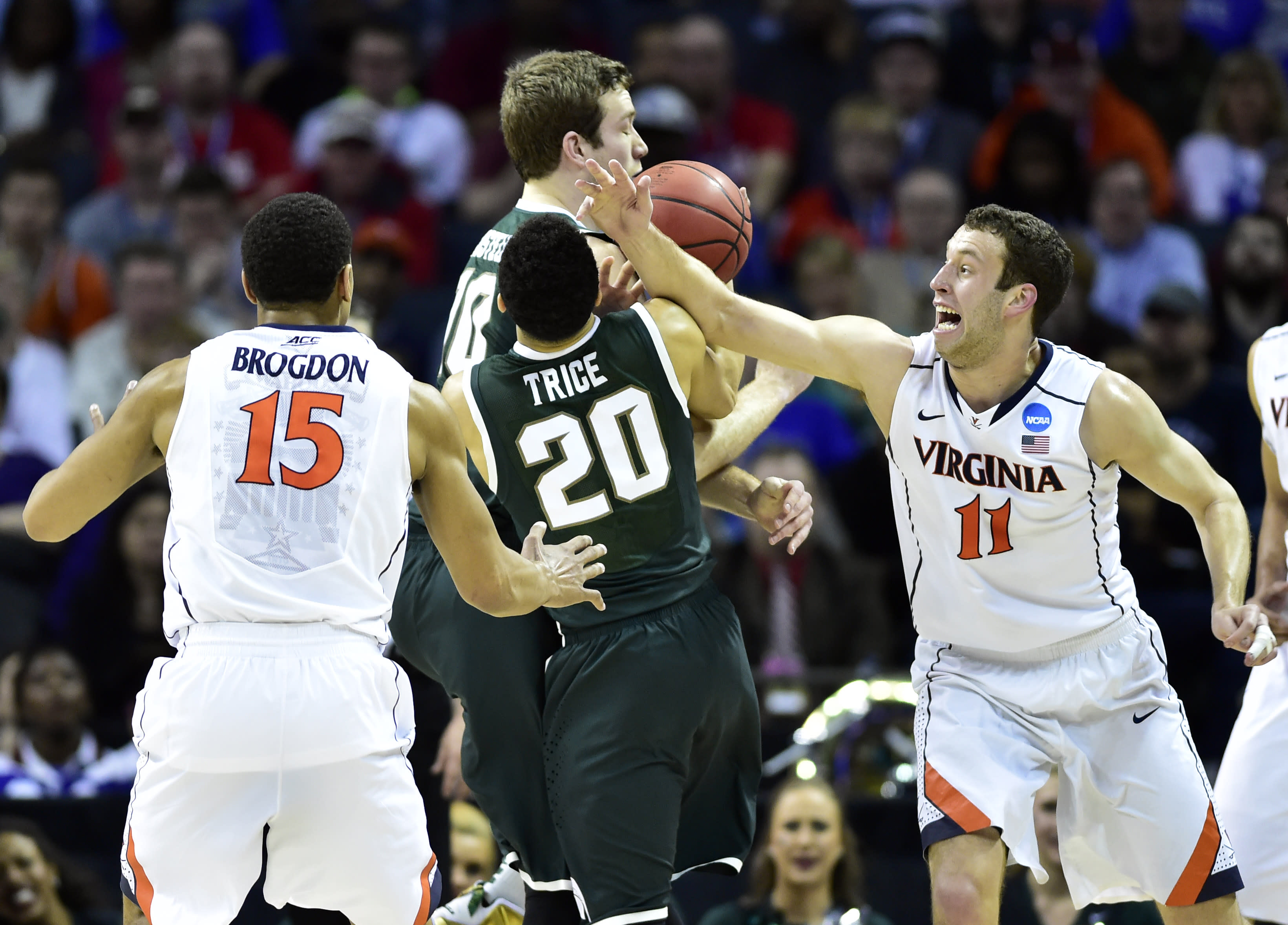 Michigan State ends Virginia's season for a second straight year