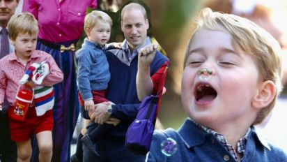 喬治王子和爸爸威廉王子到底像不像?從兩人童年照一拼就知道!