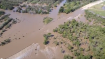 Aerial view shows devastation of Austin area flooding