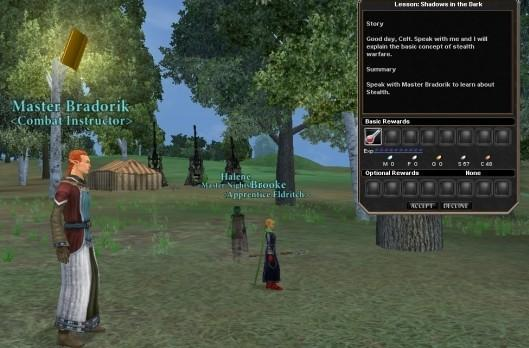 Dark Age of Camelot takes players to school