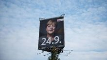 Merkel's party dips in poll but still way ahead before Sunday vote