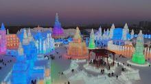 Magisches Winterwunderland aus Eis