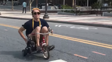 Georgia Tech students combine tricycle, chainsaw to create 'chainsaw trike'