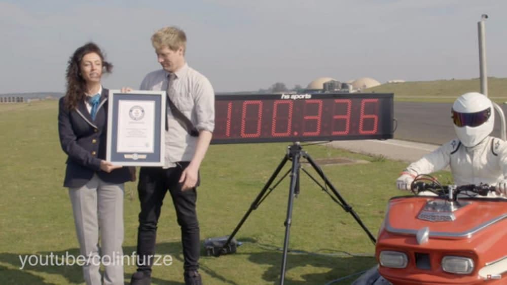 成功創下「地表最速碰碰車」的新奇紀錄。