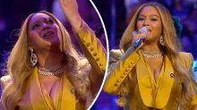 Beyoncé raises the roof at emotional Kobe Bryant memorial