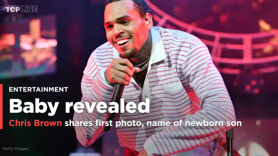 Chris Brown shares the first photo of his baby boy