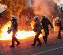 Greek demonstrators hurl firebombs towards U.S. embassy in Athens