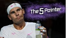 The Five Pointer: Nadal gets angry, Djokovic beaten and Villa set to retire